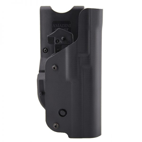 Shell holster view from the front side