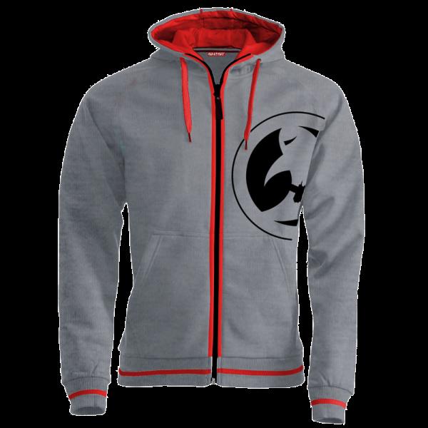 ghost hoodie grey